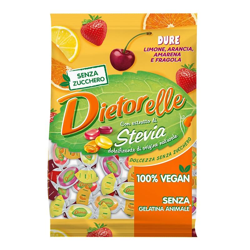 디에토렐레 무설탕 캔디 후르츠 레몬 + 딸기 + 오렌지 + 체리, 140g, 1개