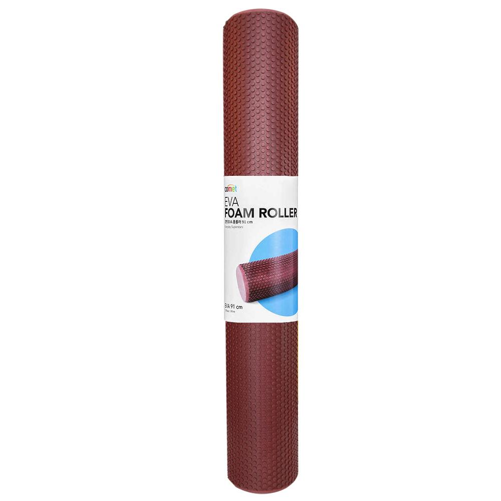 코멧 EVA 편안한 폼롤러, 와인 (91cm)