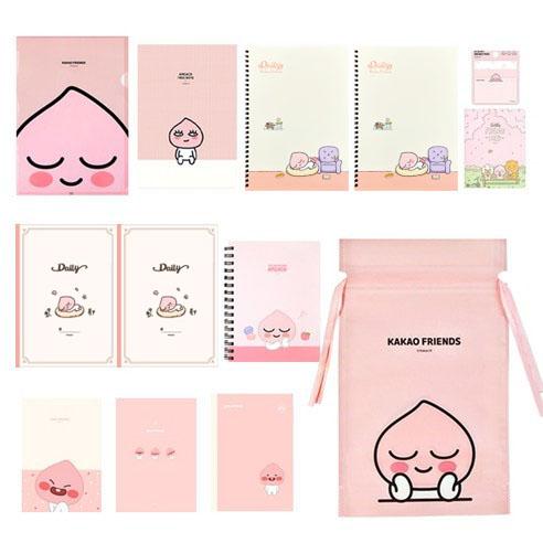 카카오프렌즈 노트모음 선물세트 + 미니중철노트 랜덤발송, 핑크어피치, 1세트