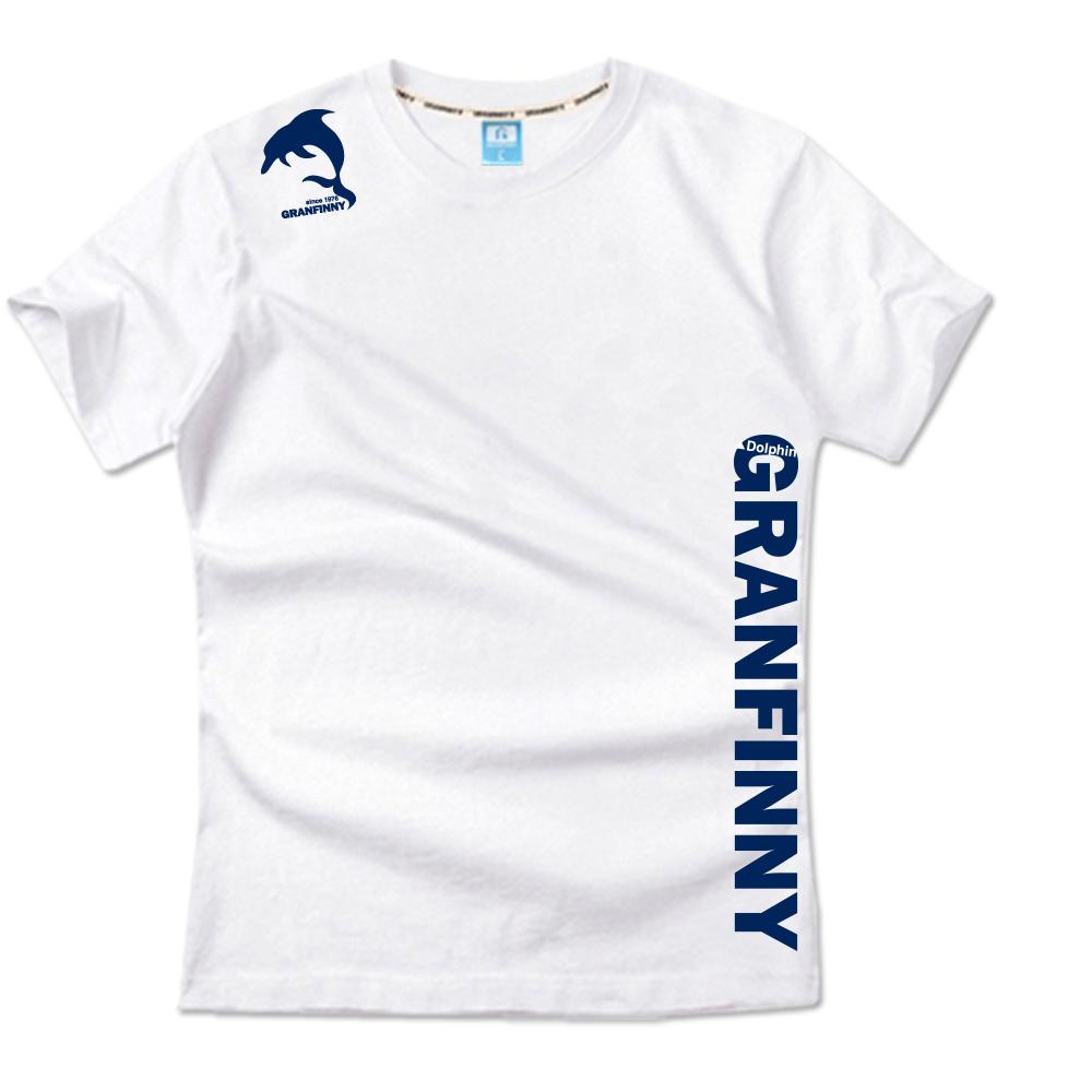 그랜피니 남녀공용 돌핀 반팔 티셔츠 GSN