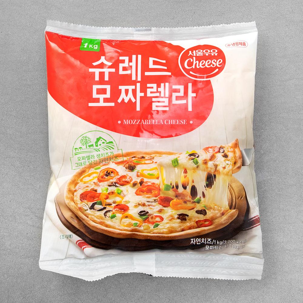 서울우유 슈레드 모짜렐라 치즈, 1kg, 1개