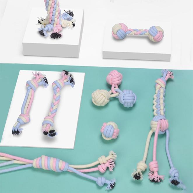 딩동펫 베베 실타래 반려동물 치석제거 장난감 8종 세트, 혼합색상, 1세트