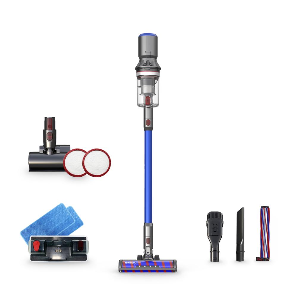 디베아 차이슨 무선청소기 X30 + 물걸레 키트 + 침구브러시 + 카펫브러시, 블루