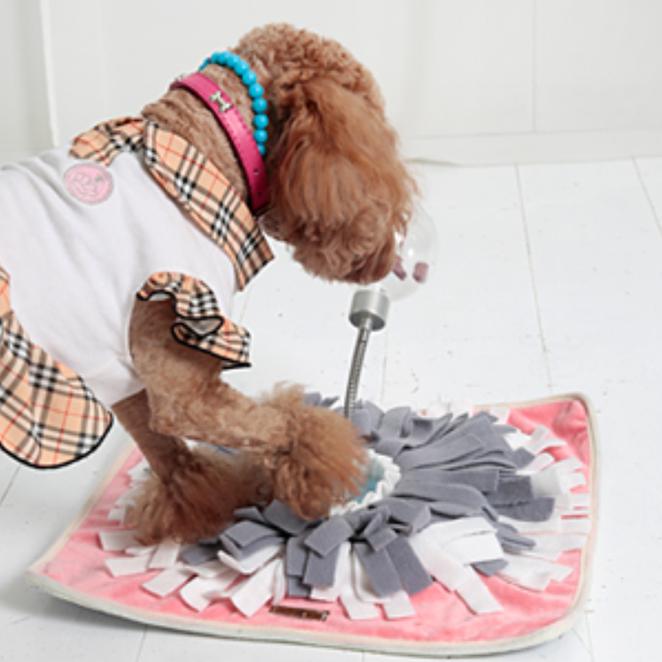 더플래 실버킹 강아지 노즈워크, 핑크, 1개