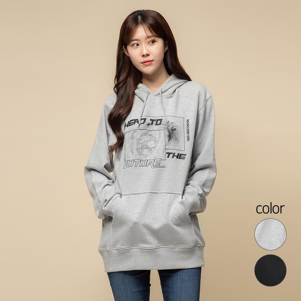 [인기 후드티] 캐럿 남녀공용 릴렉스핏 그래픽 후드 티셔츠 SK01AA - 랭킹1위 (17900원)