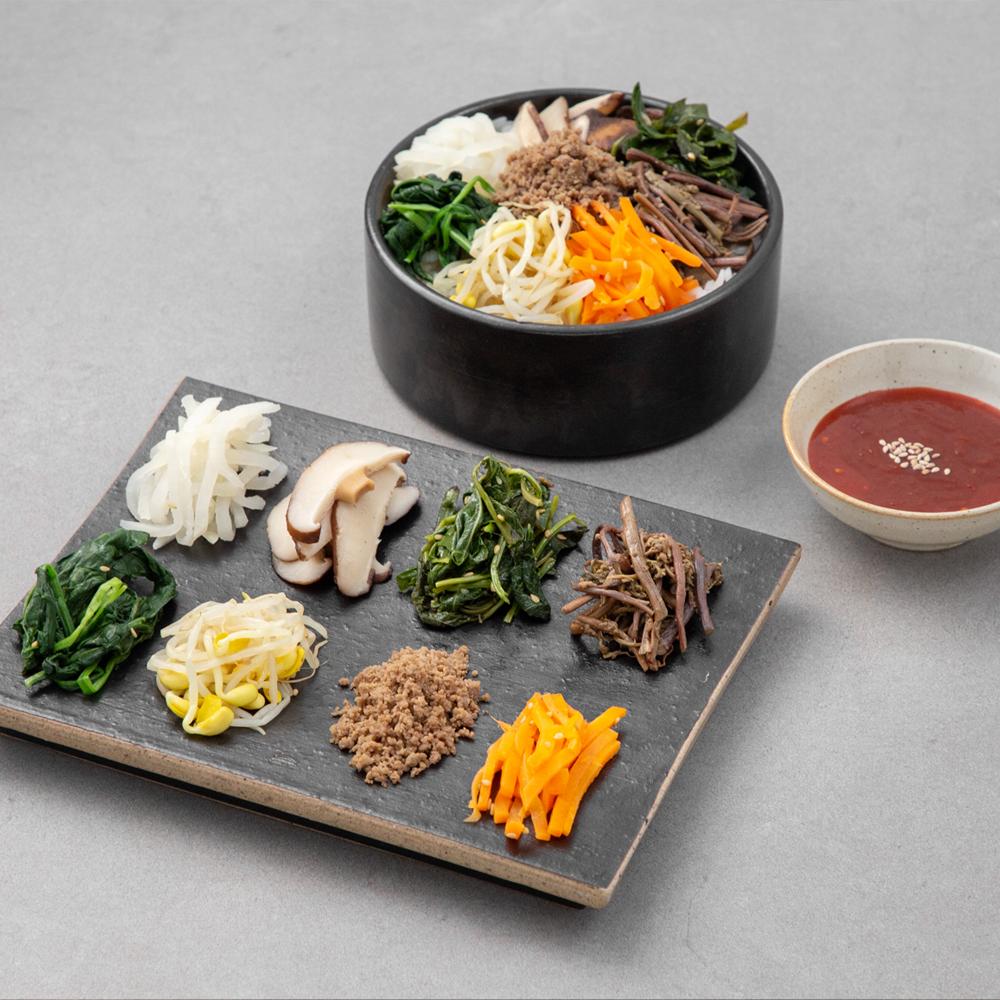 곰곰 7종 나물 비빔밥 세트, 350g, 1개