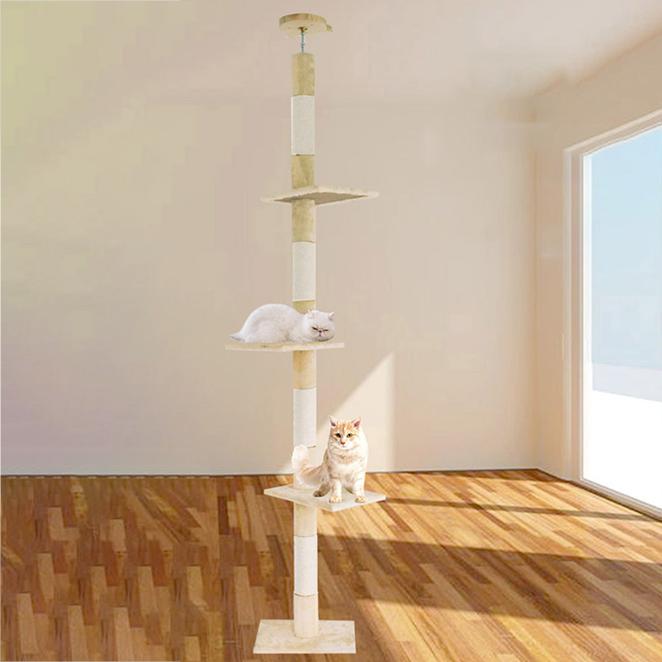 딩동펫 고양이 썬탑 캣폴 극세사형, 혼합색상, 1개