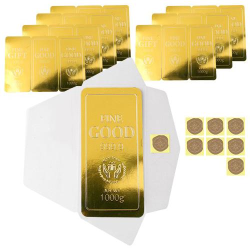 인디고샵 황금 돈봉투 세트, 혼합 색상, 8세트