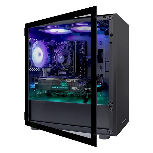 한성컴퓨터 TFG 데스크탑 블랙 MX9307 (i3 9100F WIN미포함 16GB 교체장착 RX570 SSD 256GB NVMe), 기본형