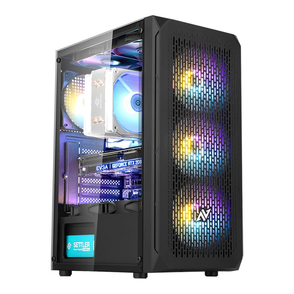 아싸컴 게임용 조립 PC AS-IM25V8W (라이젠5 3500 WIN10 Home DDR4 8GB SSD 240GB RX570) + 게이밍 장패드, 기본형