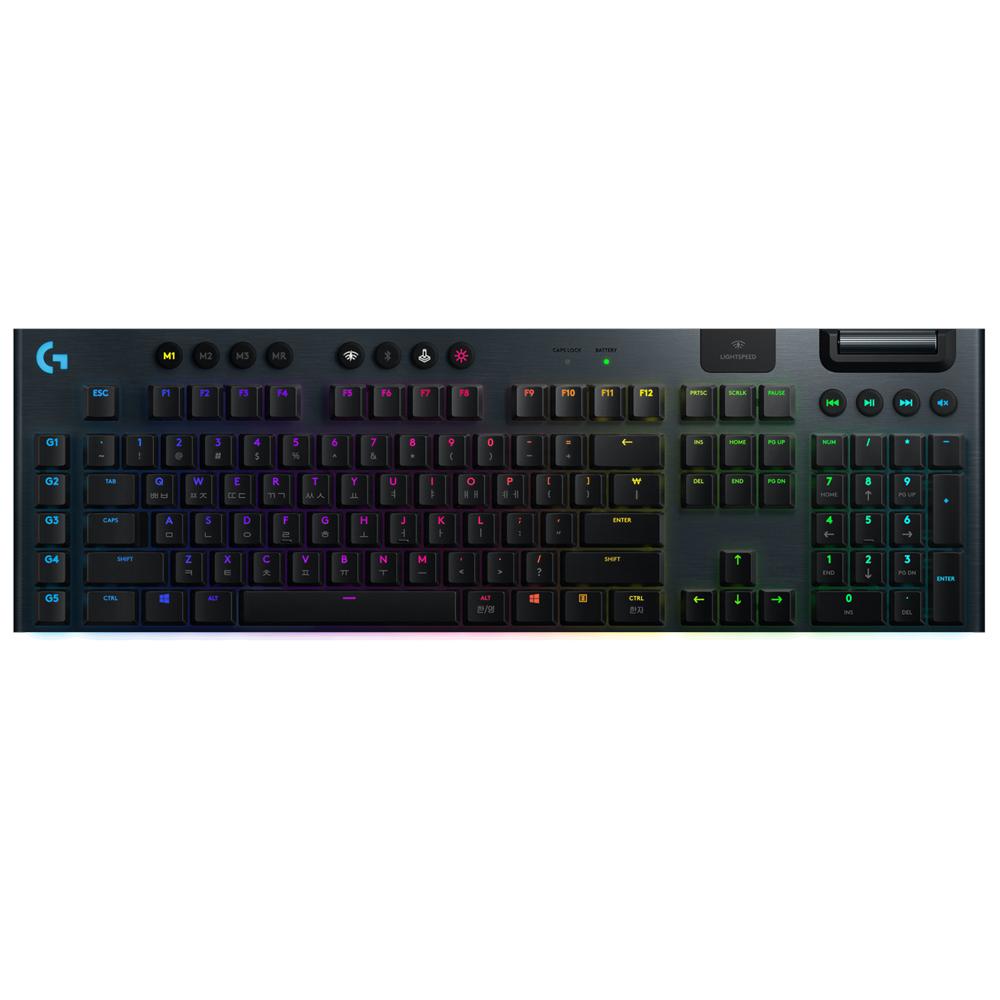 로지텍 G913 무선 게이밍 키보드 Tactile, 단일 상품, 혼합 색상