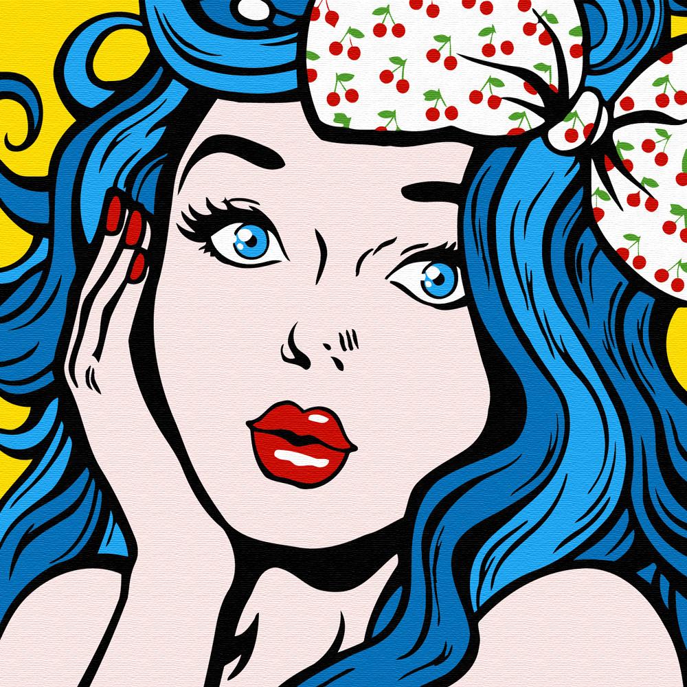 아트조이 명화그리기 20 x 20cm, 파란 머리의 소녀