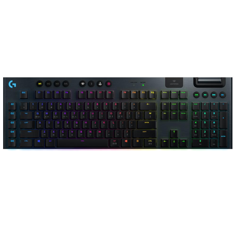 로지텍 G913 무선 게이밍 키보드 Clicky, 단일 상품, 혼합 색상