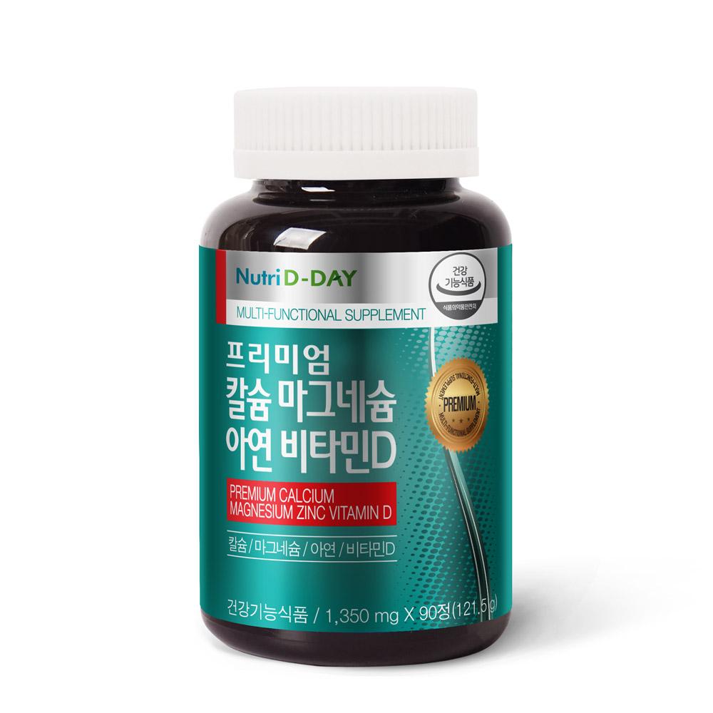 뉴트리디데이 프리미엄 칼슘 마그네슘 아연 비타민D, 90정, 1개
