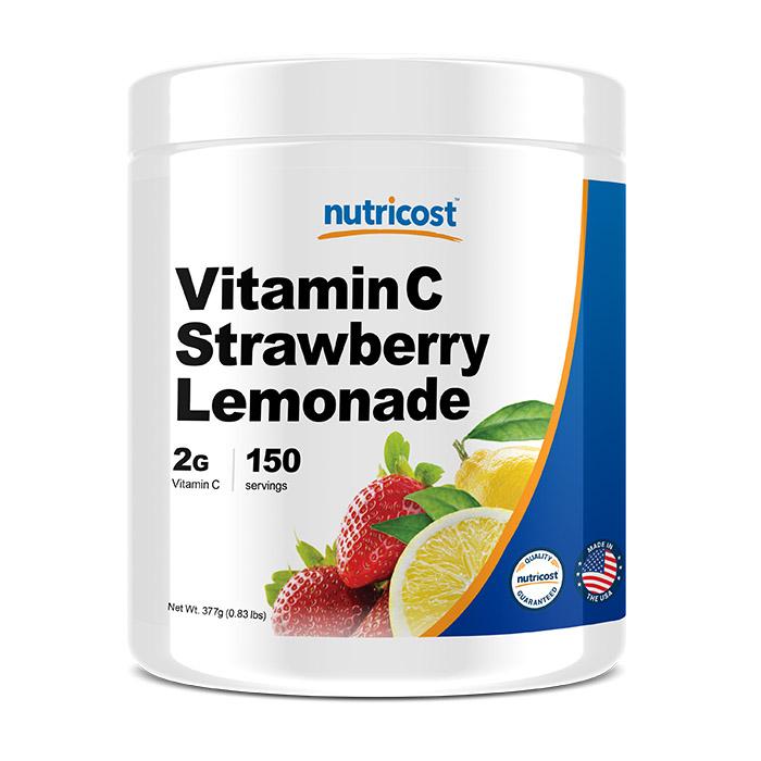 뉴트리코스트 비타민C 딸기레몬에이드향 파우더, 377g, 1개