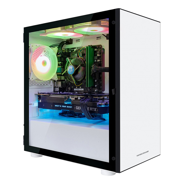 한성컴퓨터 TFG 데스크탑 화이트 MX9307W (i3 9100F WIN10 16GB 교체장착 RX570 SSD 256GB NVMe), 기본형