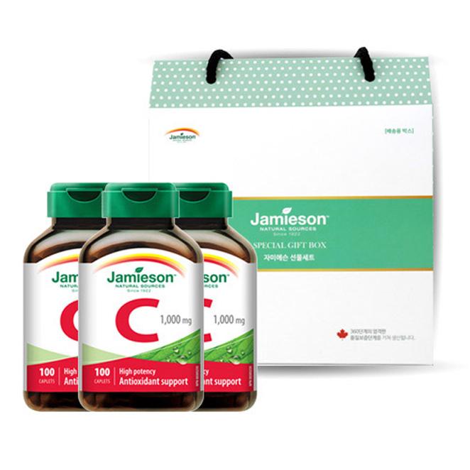 자미에슨 비타민C 1000 124.8g x 3p + 선물박스, 1세트