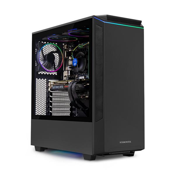 한성컴퓨터 보스몬스터 데스크탑 블랙 DX5727SRXW (라이젠7-3700X WIN10 16GB SSD 500GB 교체장착 RTX2070 SUPER OC 8GB 교체장착 파워 정격 750W), 기본형