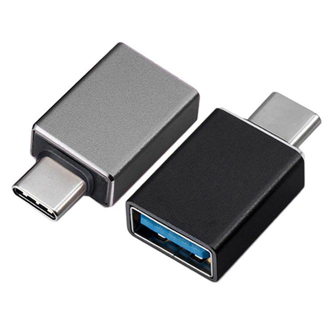 림스테일 USB 3.1 타입C 변환 OTG 젠더 2종 세트, 1세트, 블랙, 그레이