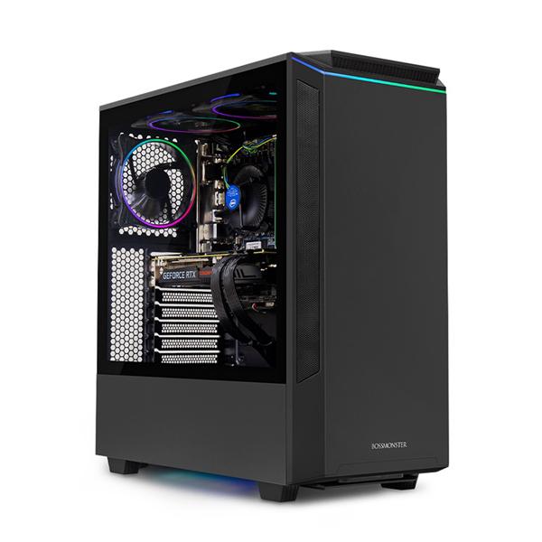 한성컴퓨터 보스몬스터 데스크탑 블랙 DX5526RX (라이젠5-3500X WIN미포함 16GB SSD 500GB 교체장착 RTX2060 6GB 파워 정격 650W), 기본형