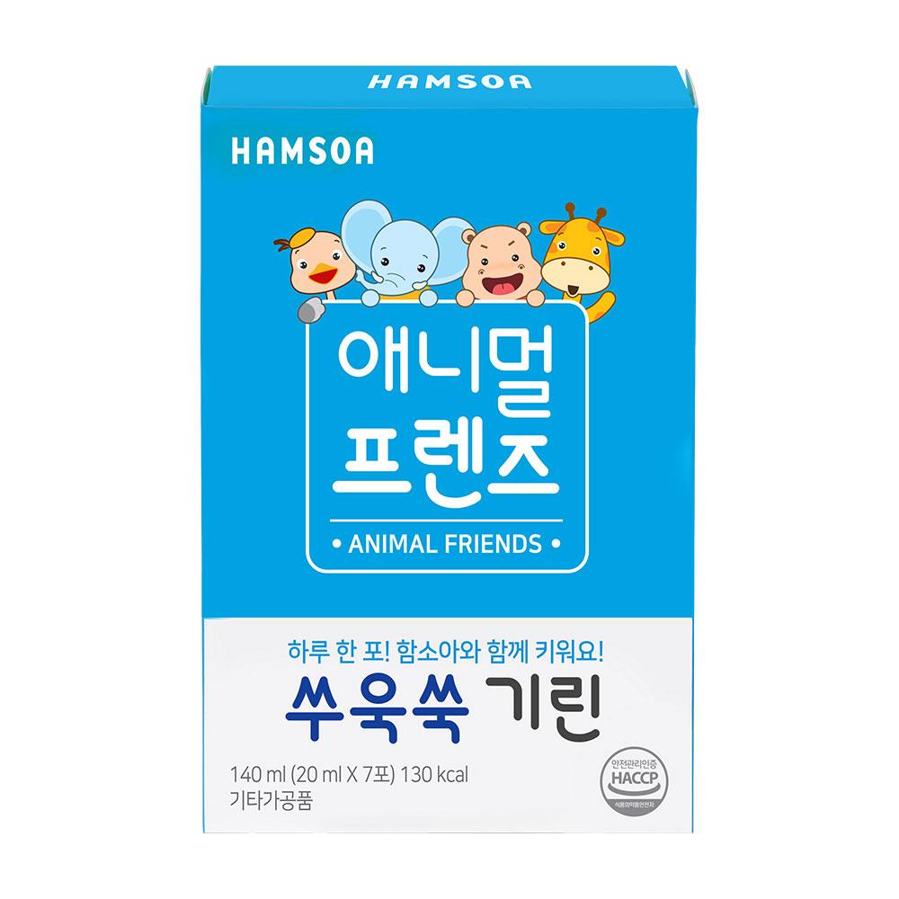 함소아 쑤욱쑥 기린 영양제, 20ml, 7개입