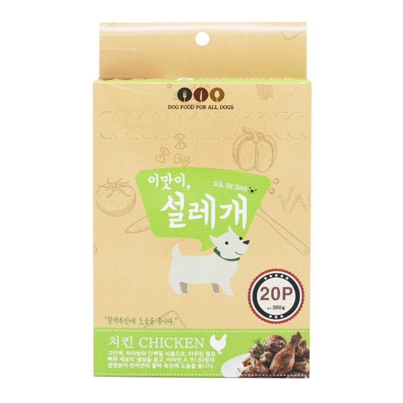 펫더맨 짜먹는 강아지간식 설레개 15g, 치킨맛, 20개입