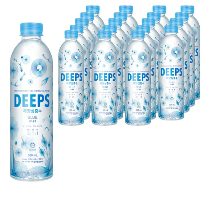 딥스 해양심층수 딥스블루, 500ml, 20개