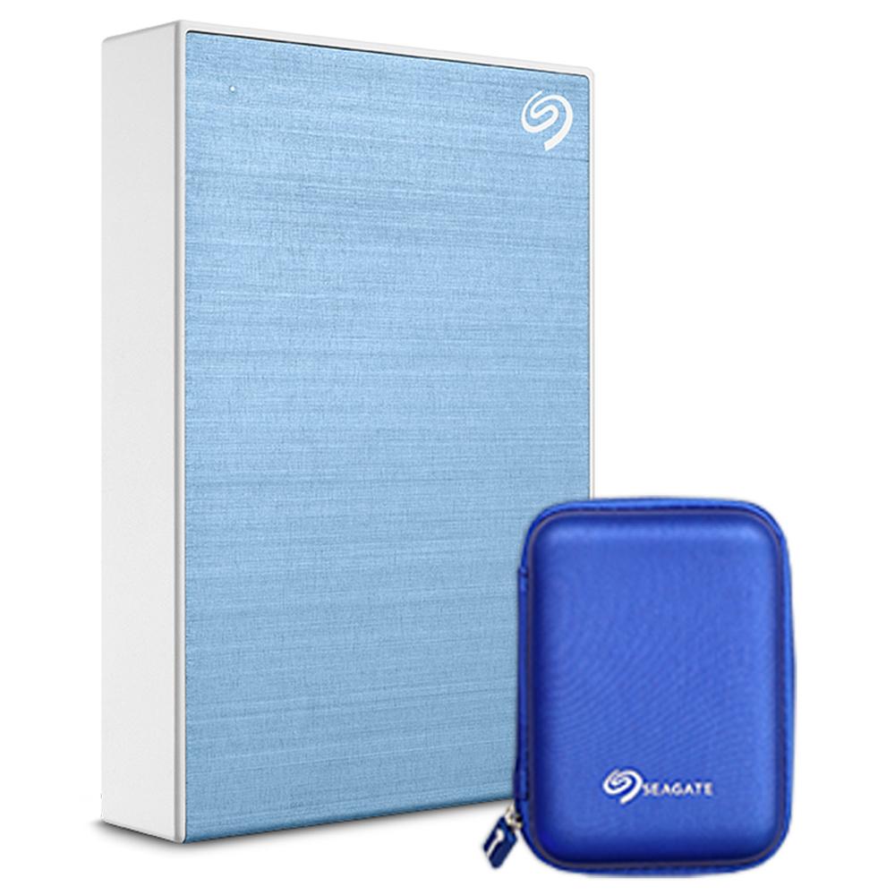 씨게이트 Backup Plus 포터블 외장하드 + 파우치, 4TB, LightBlue (POP 132673738)