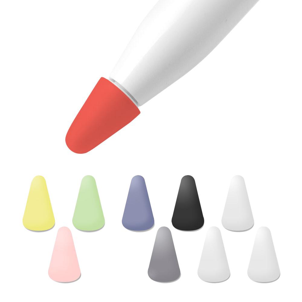 구스페리 애플펜슬 1 2 세대 겸용 펜촉 실리콘 보호캡 8종 + 화이트 2p 세트, 블랙, 레드, 라벤더그레이, 그린, 연핑크, 연노랑, 그레이, 화이트, 1세트