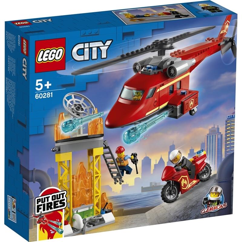 레고 시티 60281 소방 구조 헬리콥터, 혼합색상