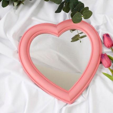 프리미엄 하트거울, 핑크