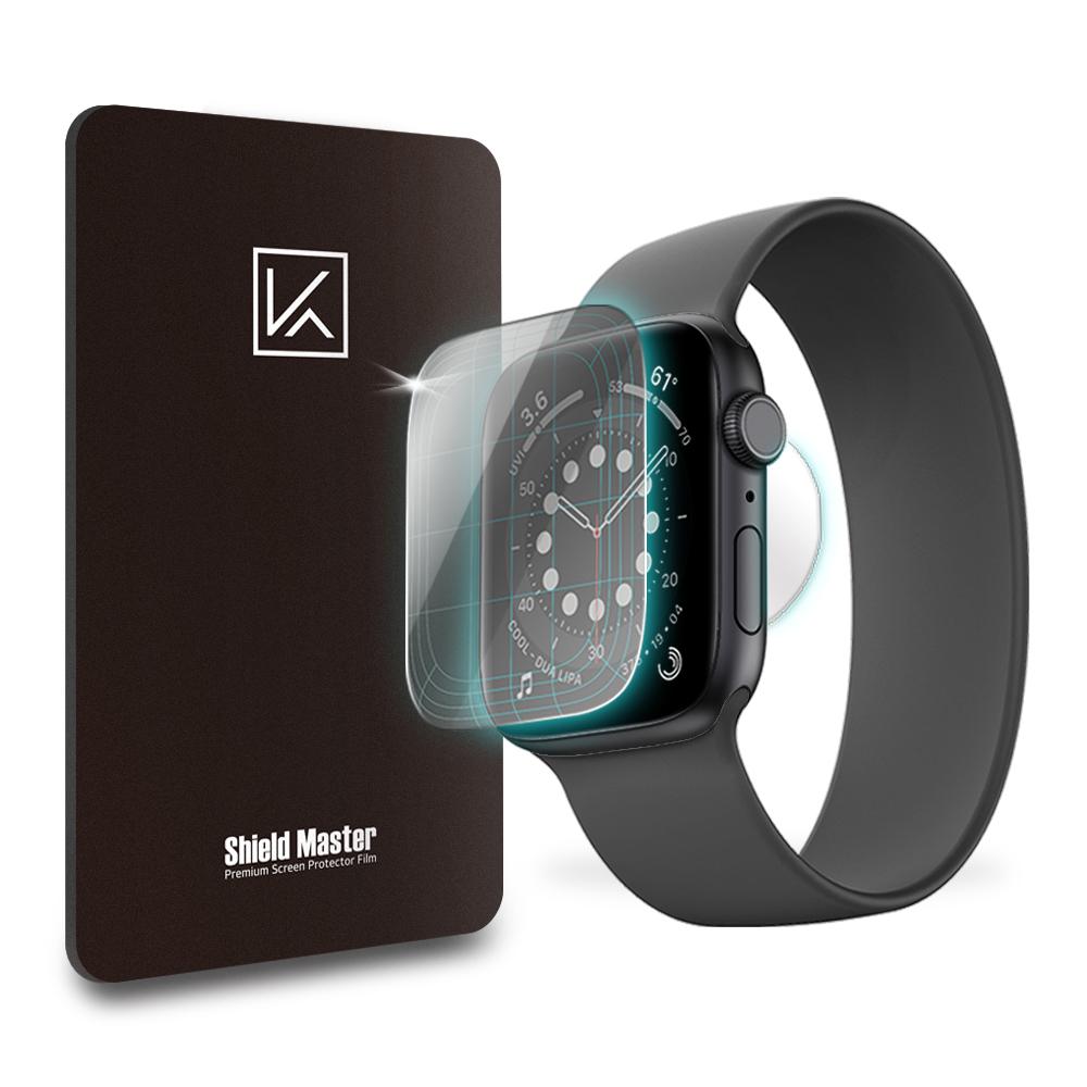 케이안 애플워치6 44mm 전용 쉴드마스터 액정보호필름 풀커버 전면 3p + 후면 심박센서 3p, 1세트