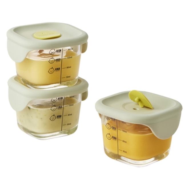 [주방용품] 락앤락 바로한끼 이유식 정사각용기, 라이트그린, 3개 - 랭킹1위 (11060원)