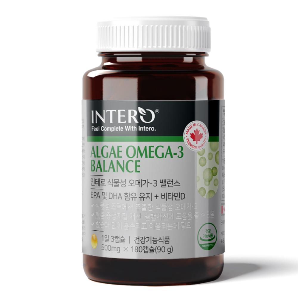 인테로 미세조류 식물성 오메가3 90g, 180정, 1개
