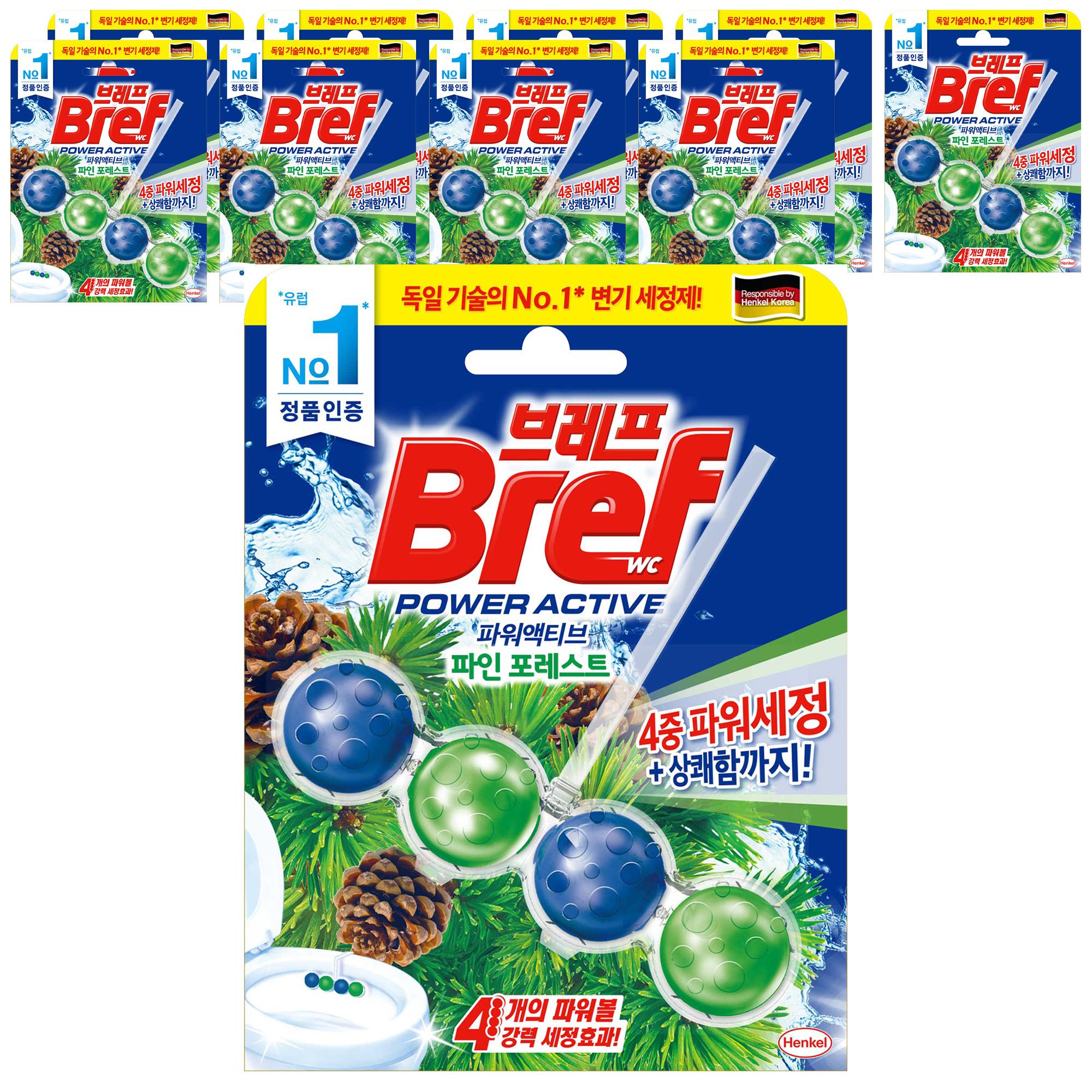 브레프 파워액티브 변기세정제 파인향, 10개