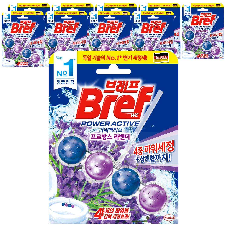브레프 파워액티브 변기세정제 라벤더향, 10개