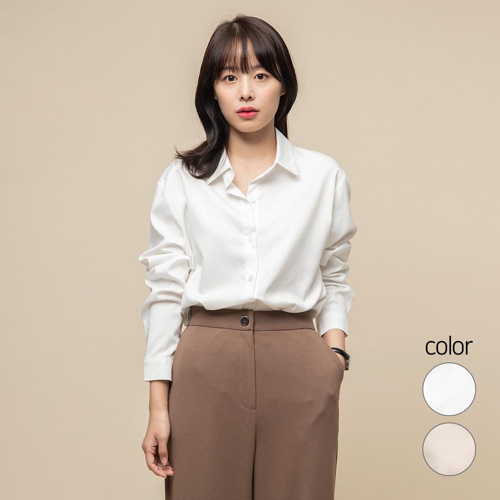 캐럿 여성 소프트터치 레귤러핏 셔츠 블라우스