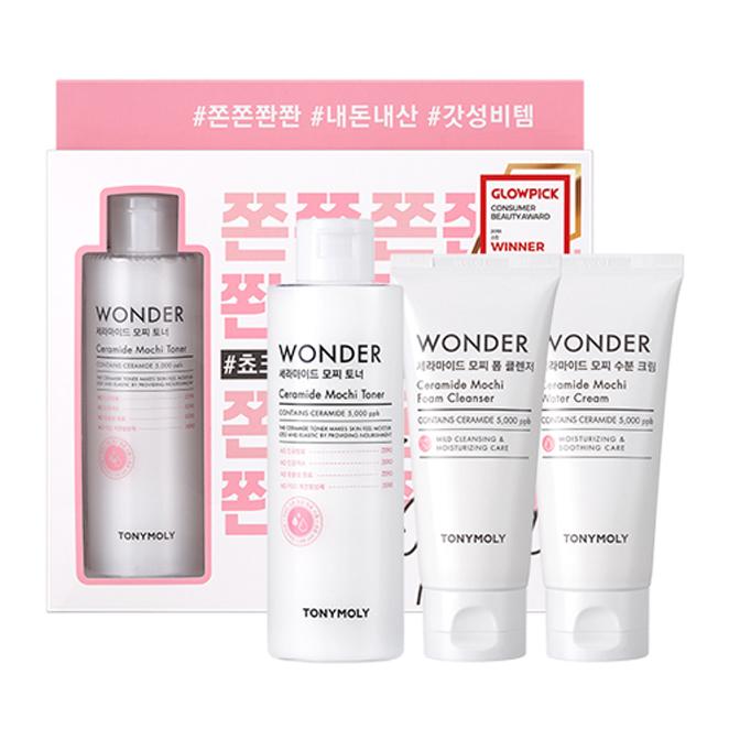 토니모리 원더 세라마이드 모찌 기초 화장품 3종 세트, 1세트