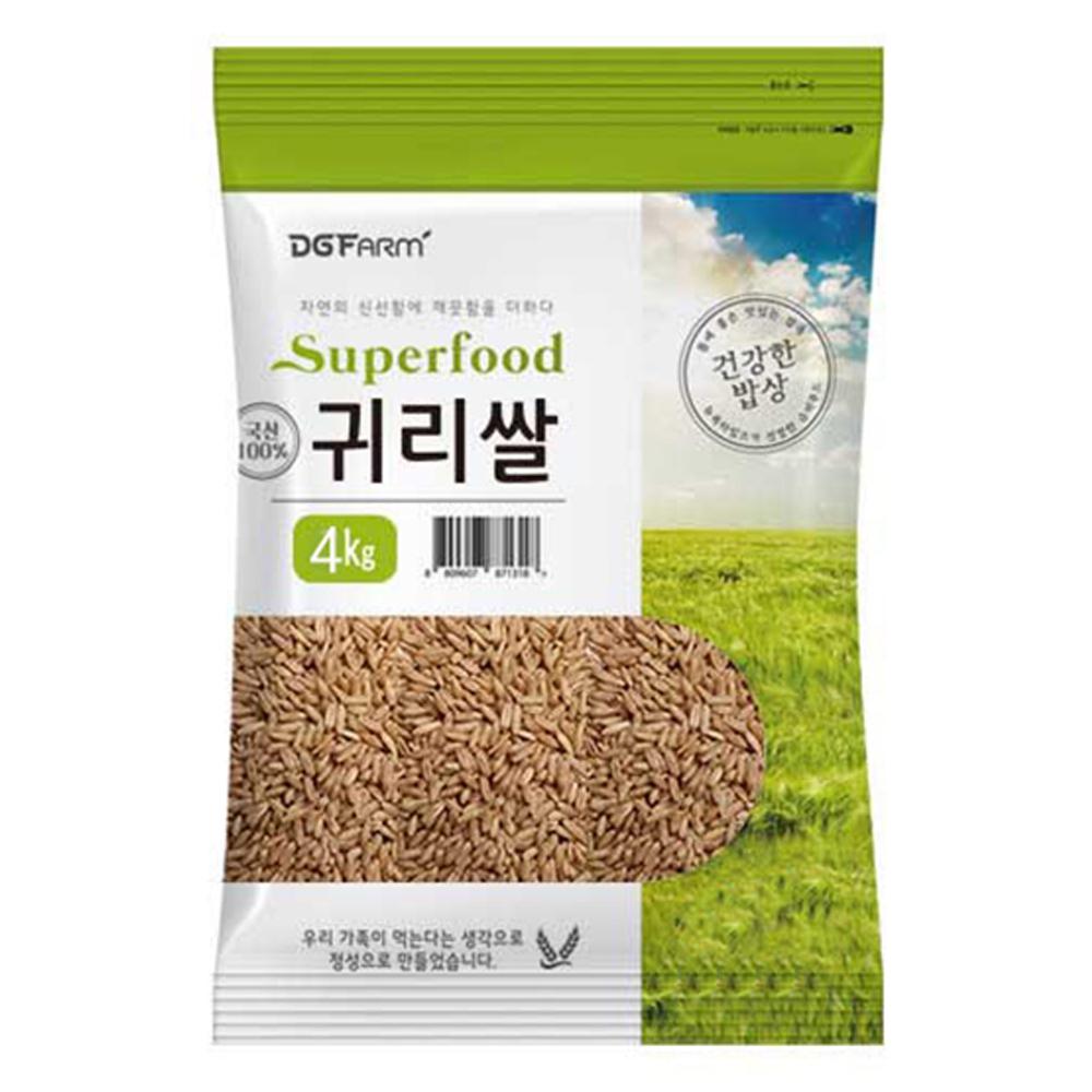 대구농산 2020년 건강한밥상 국산 귀리쌀, 4kg, 1개