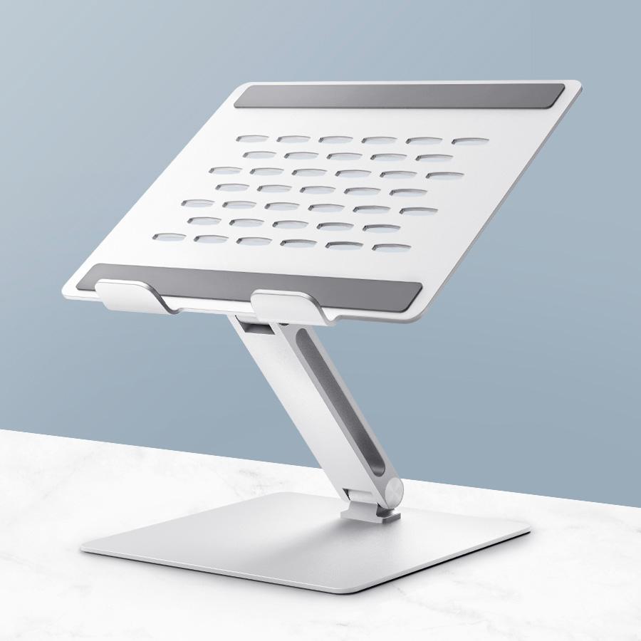 홈플래닛 고급형 알루미늄 노트북 거치대(쿨링홀 + 높이 각도 조절)-3-4674285118