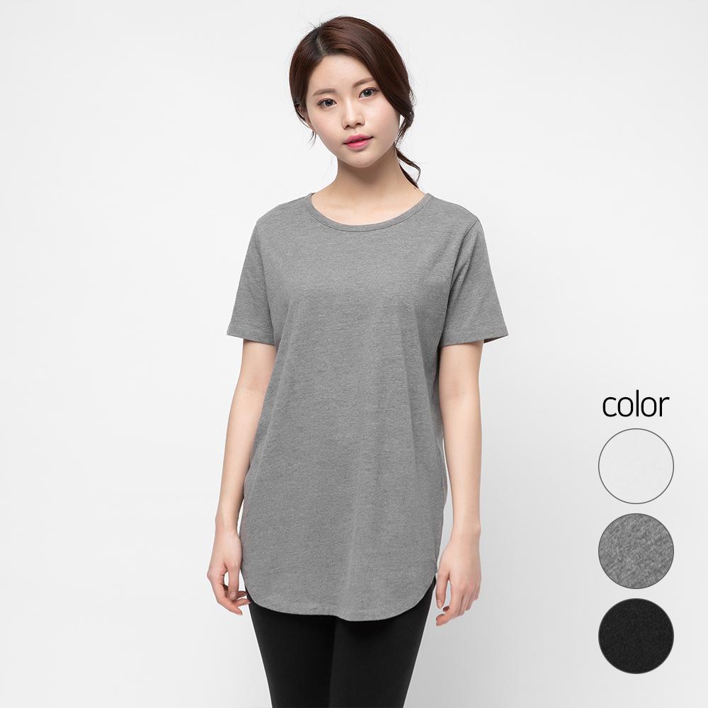 캐럿 여성용 반팔 레이어링 티셔츠