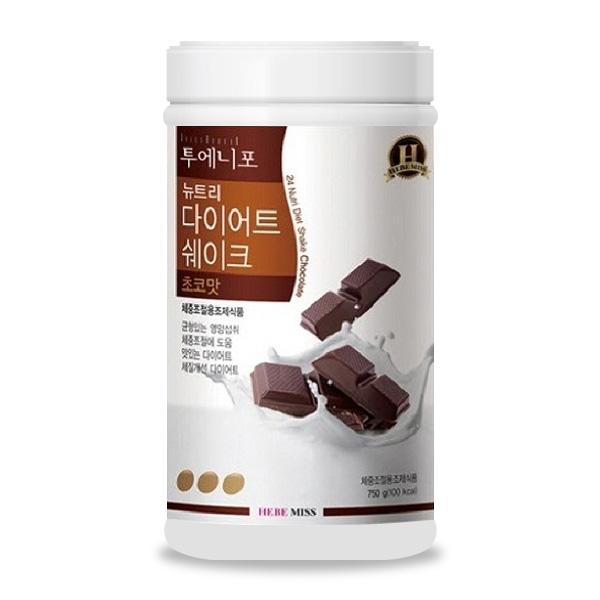 [게스 뉴핏] 뉴핏 투에니포 뉴트리 다이어트 쉐이크 초코맛, 750g, 1개 - 랭킹9위 (13220원)