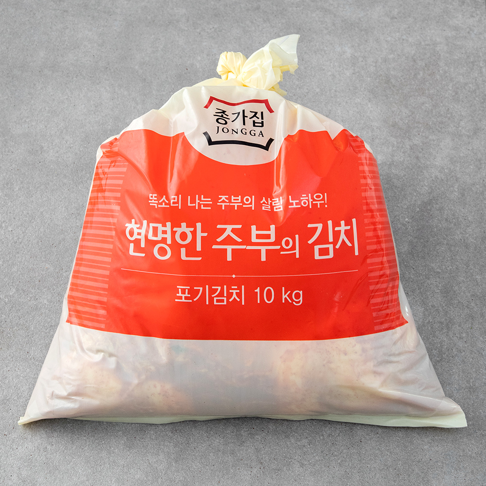 종가집 현명한 주부의 포기김치, 10kg, 1개