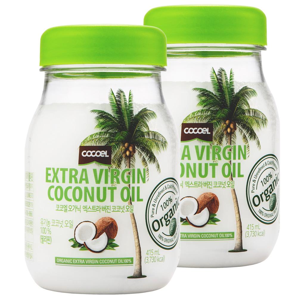 코코엘 오가닉 엑스트라 버진 코코넛오일, 415ml, 2병