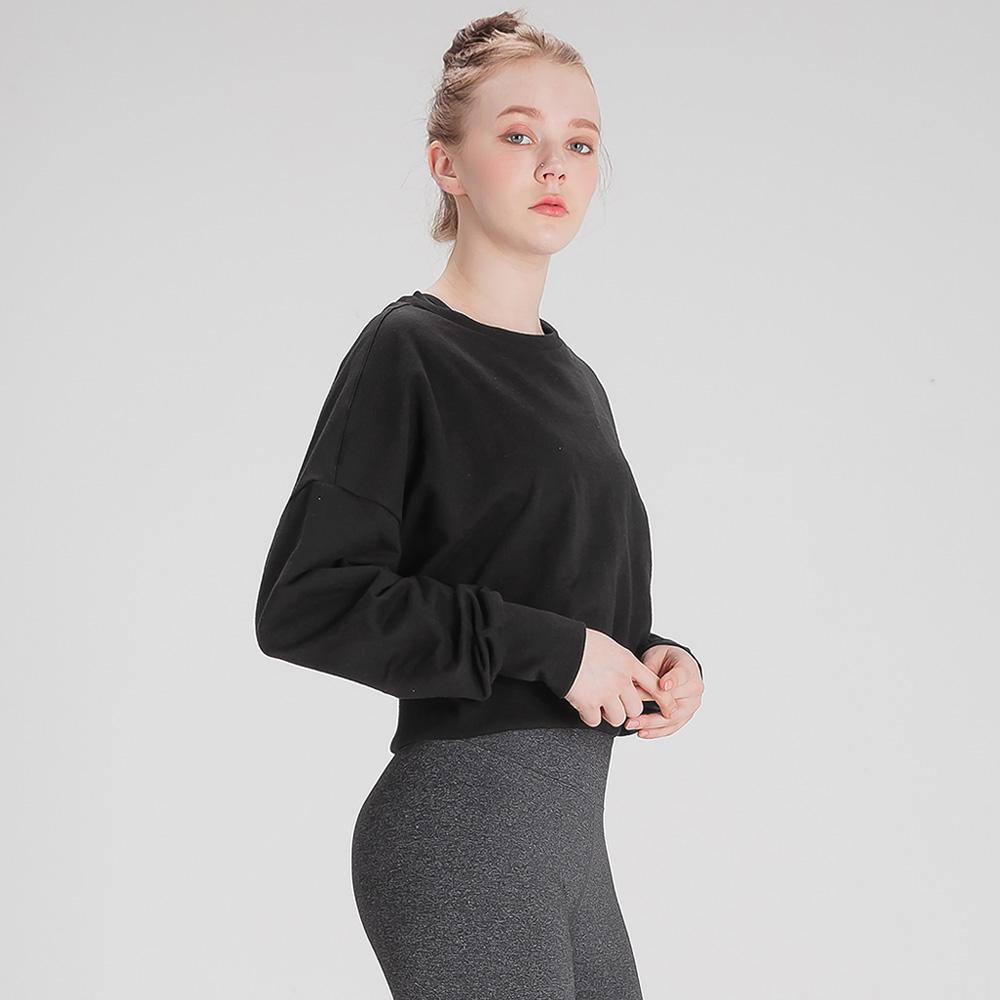 뒤란 여성용 운동복 크롭 스웨트 셔츠 DFW5016