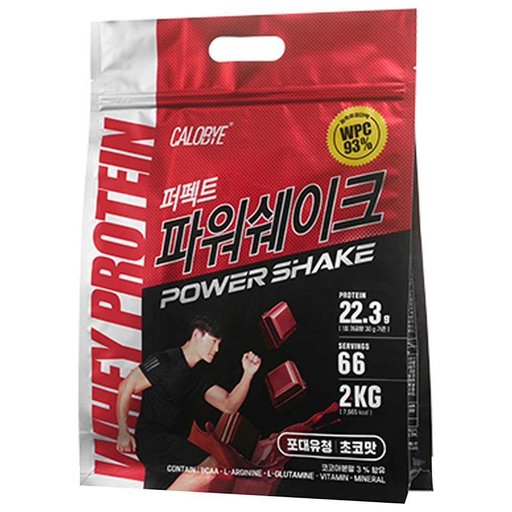 칼로바이 퍼펙트파워쉐이크 포대유청 WPC 초코맛 단백질보충제 프로틴, 2kg, 1개
