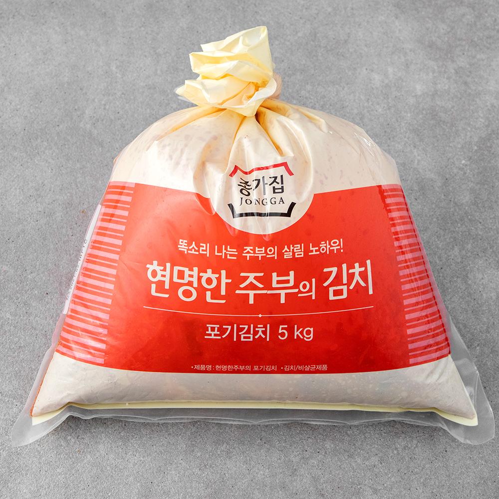 종가집 현명한주부의 포기김치, 5kg, 1개