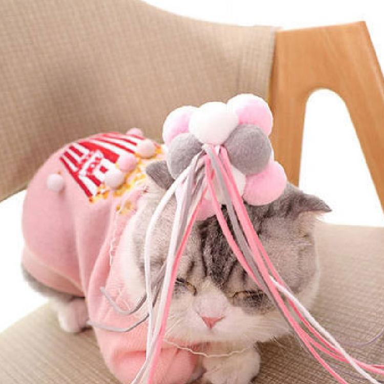 펫츠몬 폼폼 요정스틱 고양이 장난감, 랜덤 발송, 2개