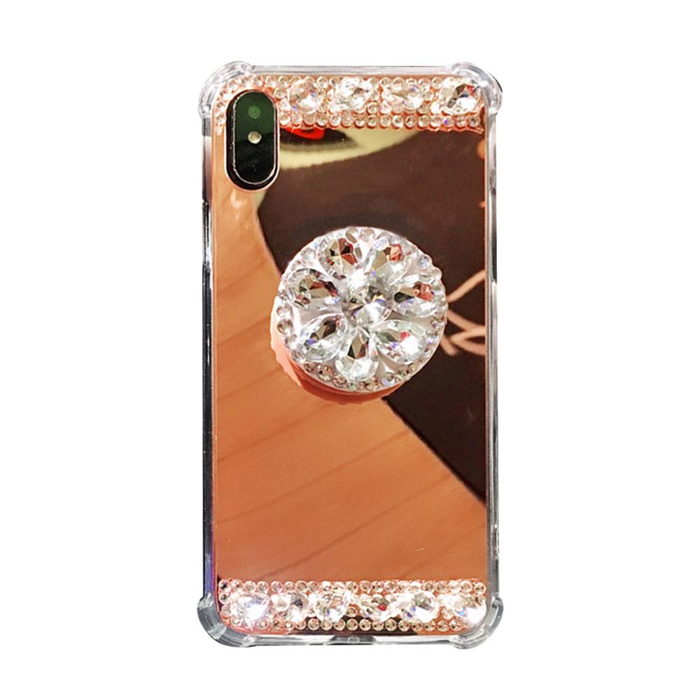 누아트 미러 큐빅 스마트톡 거치대 휴대폰 케이스