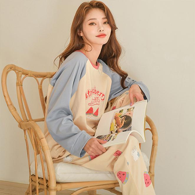 글램공감 여성용 수박 투피스 잠옷 홈웨어
